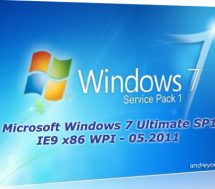 Microsoft Windows 7 Ultimate SP1 IE9 x86 WPI - 05.2011 Скачать торрент