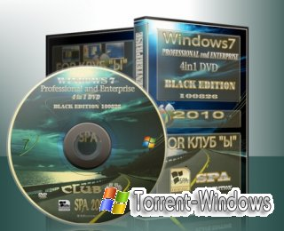 Windows 7 Professional and Enterprise 4 in1 BLACK EDITION Multiload / v.100826