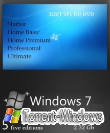 Windows 7 32BIT SP1 RU DVD (CIA Project) [2011.Rus]