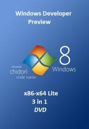 Microsoft Windows Developer Preview x86-x64 en-US Lite 3 in 1 DVD-4.7