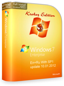 Microsoft Windows 7 Enterprise SP1 Krokoz Edition (11.01.2012) (Русский/Английский)