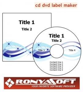 RonyaSoft CD DVD Label Maker 3.01.09 (2011) Русский