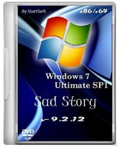 Windows 7 SP1 Sad Story x86/x64 By StartSoft (v 9.2.12)(2012) Русский
