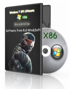 Windows 7 Ultimate SP1 (x86) Black Yellow by R.G.Win&Soft 6.1 7601 (2012) Русский