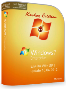 Microsoft Windows 7 Enterprise SP1 Krokoz Edition (11.04.2012) Русский + Английский