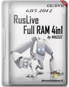 RusLiveFull RAM 4in1 by NIKZZZZ CD/DVD (06.05.2012) Русский