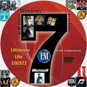 "Microsoft Windows 7 Ultimate SP1 x86-x64 RU Lite ""LM"" Update 120521 (2012) Русский"