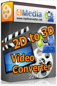 4Media 2D to 3D Video Converter 1.0.0 Build 20120313 Eng + Portable (2012)