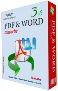 Wondershare PDF to Word Converter 3.6.0 Portable (2012) Английский