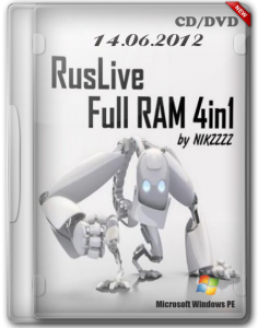 RusLiveFull RAM 4in1 by NIKZZZZ CD/DVD (14.06.2012) Русский