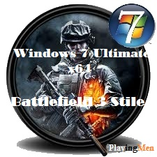 Windows 7 x64 Ultimate Battlefield 3 Style v.1.0 (2012) Русский