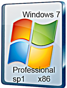 Windows 7 Professional Sp1 x86 X05 (мини WPI) (2012) Русский
