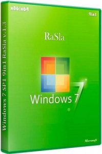 Microsoft Windows 7 SP1 RUS (x86-x64) 9in1 RaSla v1.4 (2012) Русский