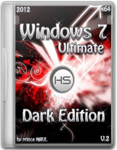 Windows 7 Ultimate SP1--7 Dark Edition V2 (x64) (2012) [by Prince NRVL] Английский