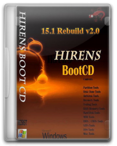 Hiren's Boot CD 15.1 Rebuild by DLC v.2.0 (2012) Английский