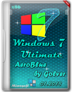 Windows 7 Ultimate x86 AeroBlue by Golver 01.2013 (2013) Русский