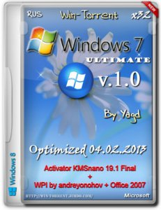 Windows 7 Ultimate SP1 Optimized Win-Torrent + WPI [x86] [2013] Русский