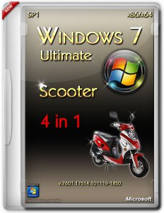 Windows 7 Ultimate SP1 Scooter x86/x64 (2013) Русский + Английский
