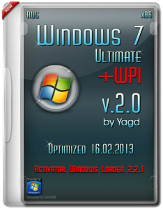 Windows 7 Ultimate SP1 x32 Optimized + WPI by Yagd (15.02.2013) v.2.0 (2013) Русский