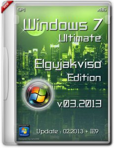 Windows 7 Ultimate SP1 x86 Elgujakviso Edition (03.2013) Русский