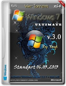 Windows 7 Ultimate x64 Standart by Yagd 06.03.2013 (2013) Русский