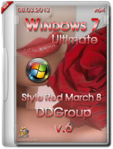 Windows 7 Ultimate SP1 x64 Style red March 8 DDGroup (v.6) (2013) Русский