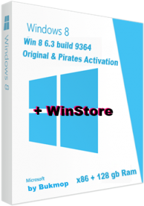 Windows 8 Pro 6.3 WMC & WinStore [x86 128gb-ram] [2in1] by Bukmop (2013) Русский + Английский