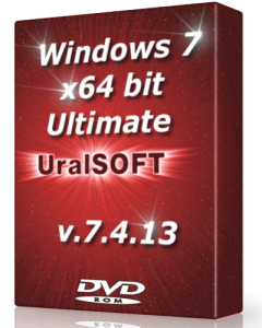 Windows 7 x64 Ultimate UralSOFT v.7.4.13 (2013) Русский