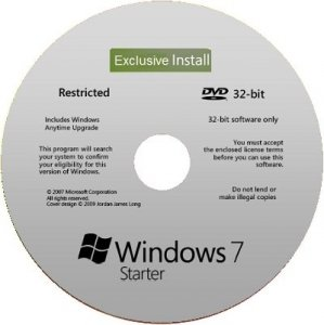 Microsoft Windows 7 Starter SP1 x86 RU V-XIII Exclusive by Lopatkin (2013) Русский