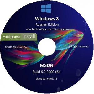 Microsoft Windows 8 Enterprise x64 RU V-XIII Exclusive by Lopatkin (2013) �������