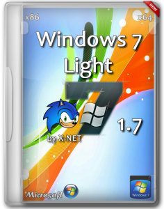 Windows 7 SP1 - Light 1.7 by X-NET x86/64 2DVD (2013) Русский