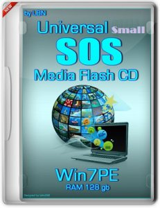 Universal SOS-Media Flash-CD Top Box Win7PE RAM 128 gb Basis Small by Lopatkin (2013) Русский