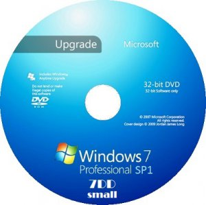 Microsoft Windows 7 Professional VL x86 RU 7DD Small by Lopatkin (2013) Русский