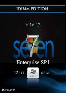 Windows 7 Enterprise SP1 IDimm Edition v.16.13 x86/x64 (2013) Русский