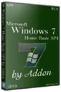 Windows 7 x86 Home Basic SP1 by Addon [2013] Русский