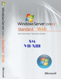 Microsoft Windows Server 2008 R2 STANDARD & Web SM VII-XIII (2 in 1) by Lopatkin (2013) Русский