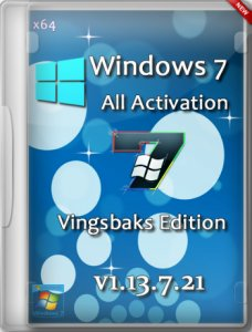 Windows 7 All Activation SP1 DVD Vingsbaks Edition v1.13.7.21 (x64) [2013] Русский
