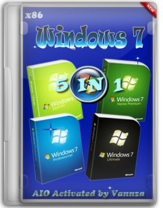 Windows 7 X86 5 in 1 AIO Activated by Vannza (2013) Русский