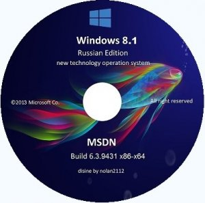 Microsoft Windows 8.1 Enterprise 6.3.9431 x86-х64 RU Immersive Desktop PC v2 by Lopatkin (2013) Русский
