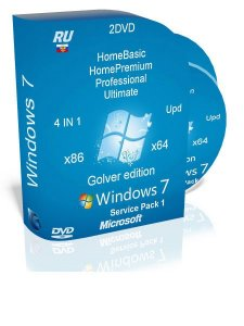 Windows 7 SP1 Ultimate (x86-x64) 4 in 1 original activated by Golver (2013) Русский