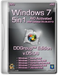 Windows 7 SP1 5in1 DVD [v.05.08] DDGroup™ Edition AIO Activated (x86) [2013] Русский