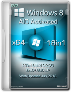 Windows 8 18in1 RTM Build 9200 AIO Activated (64bit) (2013) [Eng / Rus • LP]