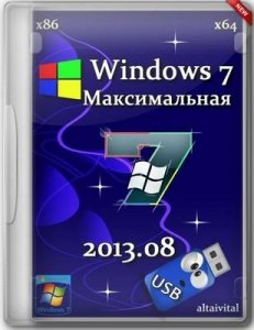 Windows 7 Максимальная SP1 USB by altaivital 2013.08 (x86-x64) Русский