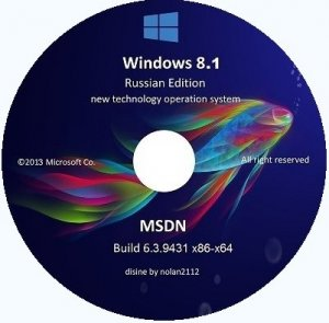 Microsoft Windows 8.1 Enterprise 6.3.9431 x86-х64 RU Store Desktop PC by Lopatkin (2013) Русский