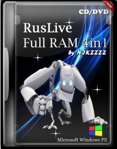 RusLiveFull 2013 RAM 4in1 by NIKZZZZ CD|DVD|USB tools 10.08.2013  (Русский + Английский)