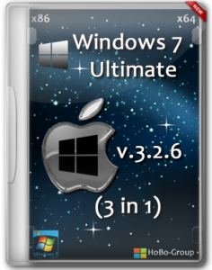 Windows 7 Ultimate SP1 3in1 HoBo-Group v.3.2.6 (32bit+64bit) (2013) Русский