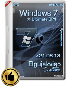 Windows 7 Ultimate SP1 Elgujakviso Edition v.21.08.13 (64bit) (2013)  Русский