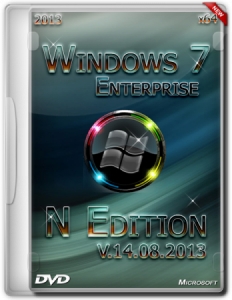 Windows 7 Enterprise N Edition SP1 She11 (x64) [2013] Русский + Английский