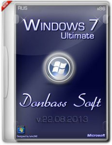 Windows 7 Ultimate SP1 x86 DonbassSoft v.22.08.2013 (2013) Русский