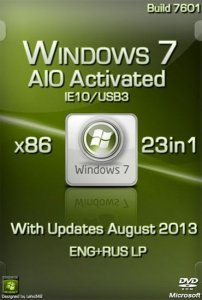 Windows 7 IE10/USB3 23in1 AIO Activated by Murphy78 (x86) [2013] Русский + Английский